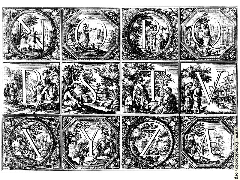 [Picture: Valerio Spada: Historiated Alphabet, 1656– 1659 [N-Z]]