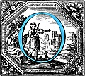 [picture: Historiated decorative initial capital letter O in Blue]