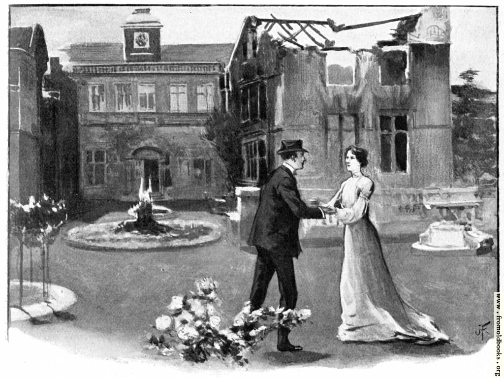 [Picture: The Deceiver: Grania and Verney in the Garden]