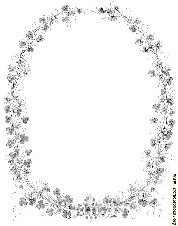 [Picture: Oval shamrock border]