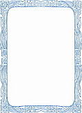 Decorative Art Nouveau Border