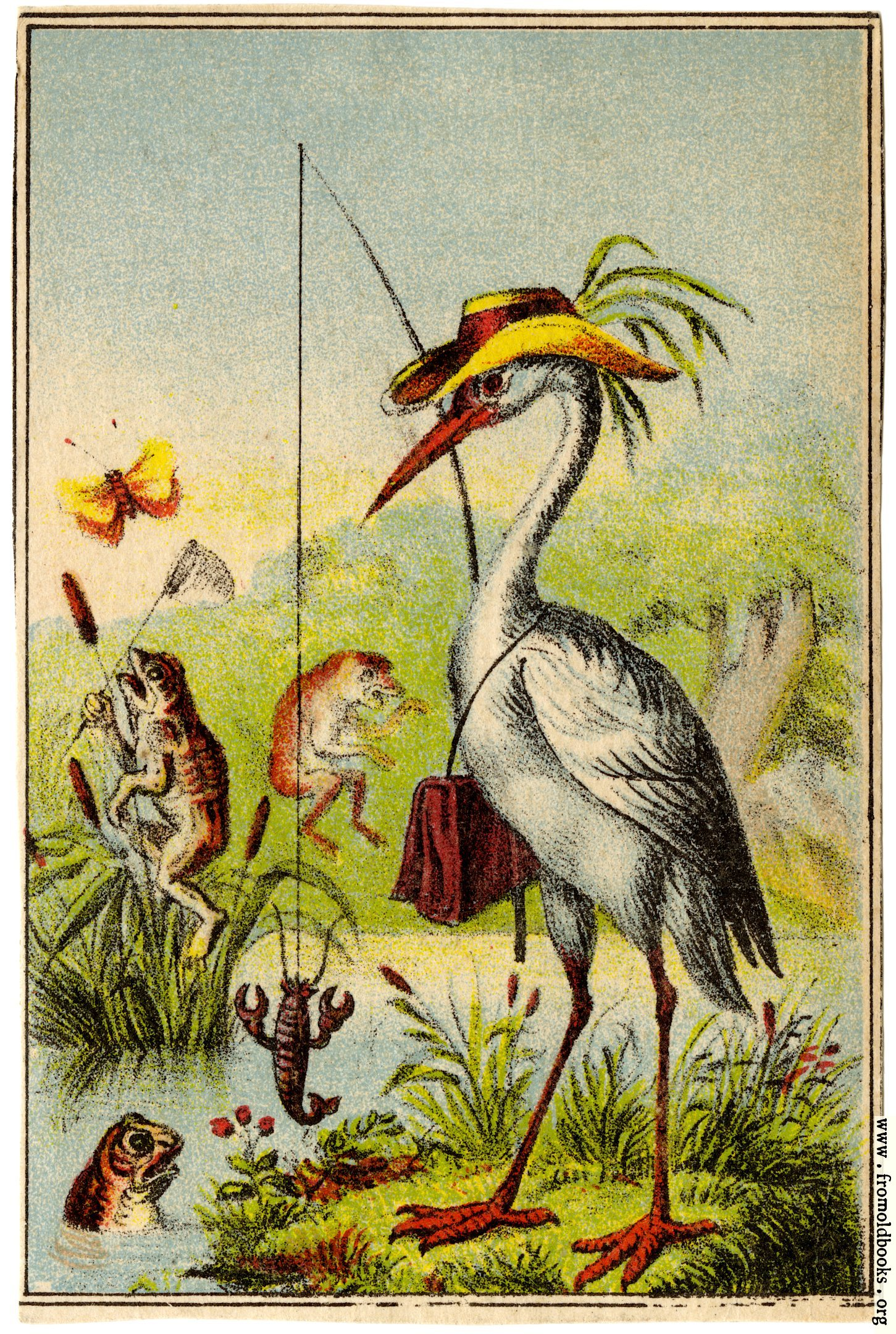 [Picture: Bird fishing]