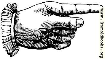 manicule, or pointing hand