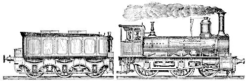 [Picture: Stock block: Victorian railway engine and tender]