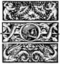 [Picture: Chapterheads with cherubs, dragons, fish, neptune, flowers]