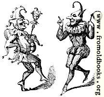 [picture: Stock block: two dancing harlequins]