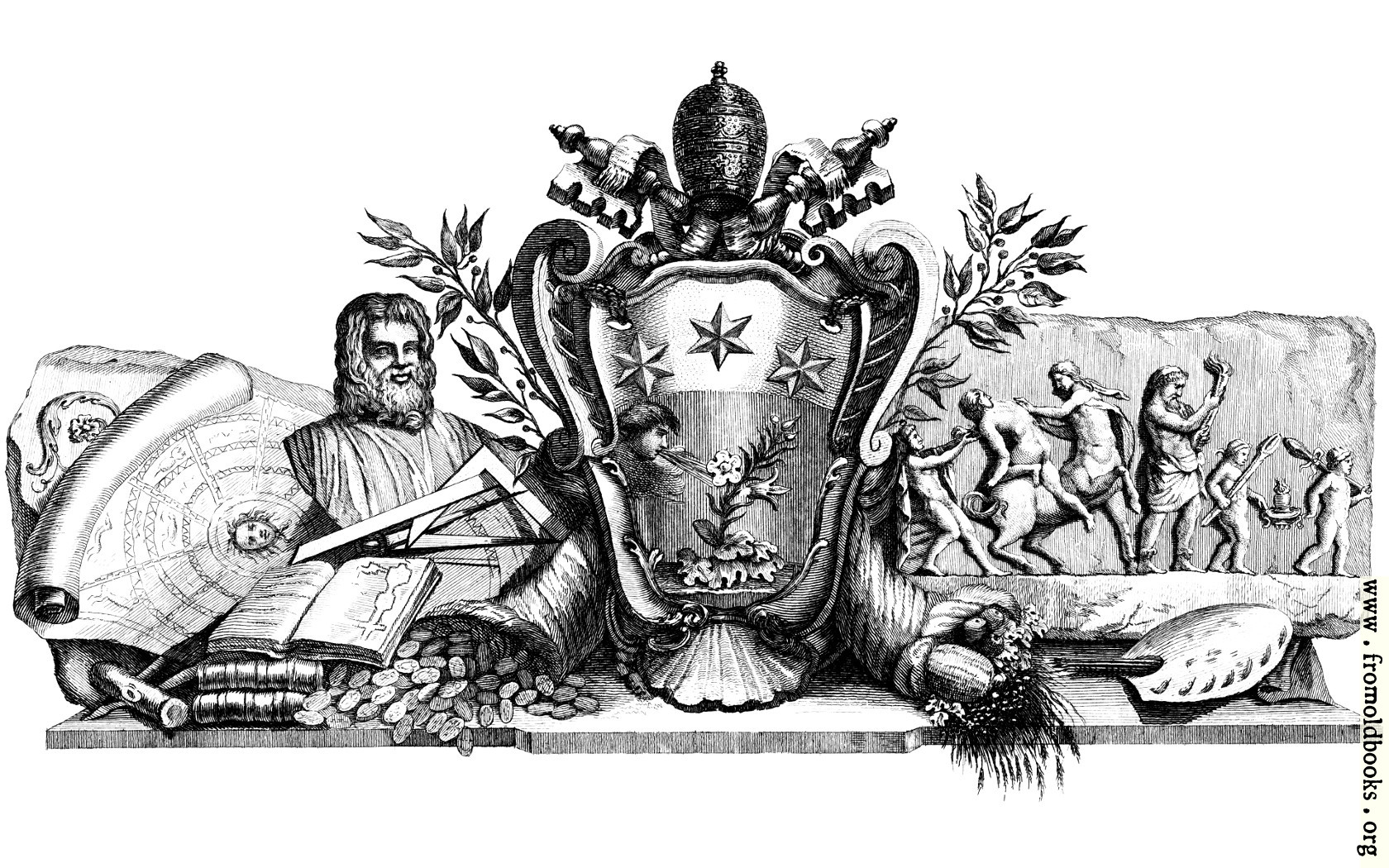 [Picture: Heraldic Crest and Symbols of Art]