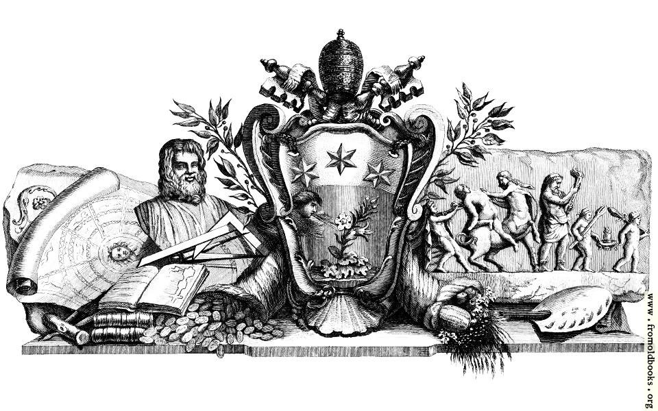 [Picture: Heraldic Crest and Symbols of Art]