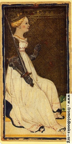 [Picture: Queen of Swords.]