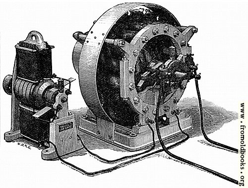 [Picture: Figs. 15 and 16.—Showing Siemens' Alternate Current Dynamo, with its Excitor.]