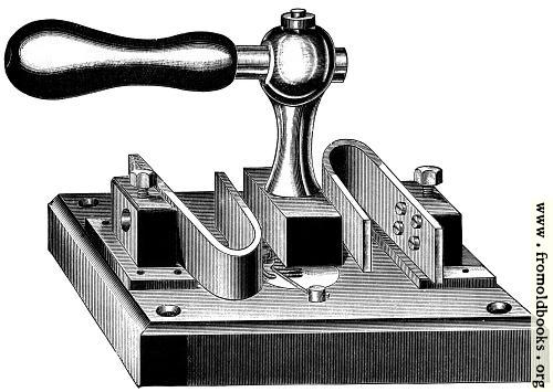 [Picture: Fig. 72.—Author's Main Switch—Bent Spring Pattern.]