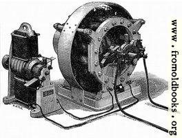 [picture: Figs. 15 and 16.---Showing Siemens' Alternate Current Dynamo, with its Excitor.]