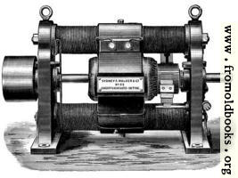 [picture: Fig. 17.---Showing Old Type of Gramme Continuous Current Dynamo.]