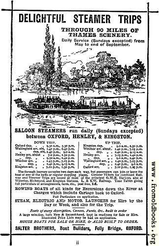 [Picture: Advert: Delightful Steamer Trips]