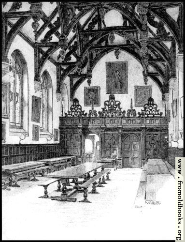 [Picture: XXIV.—Wadham College, The Hall Interior (greyscale version)]