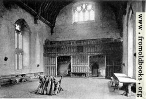 [picture: Baronial hall, Penshurst Place]