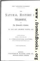 [picture: Title Page (Natural History of Selborne)]