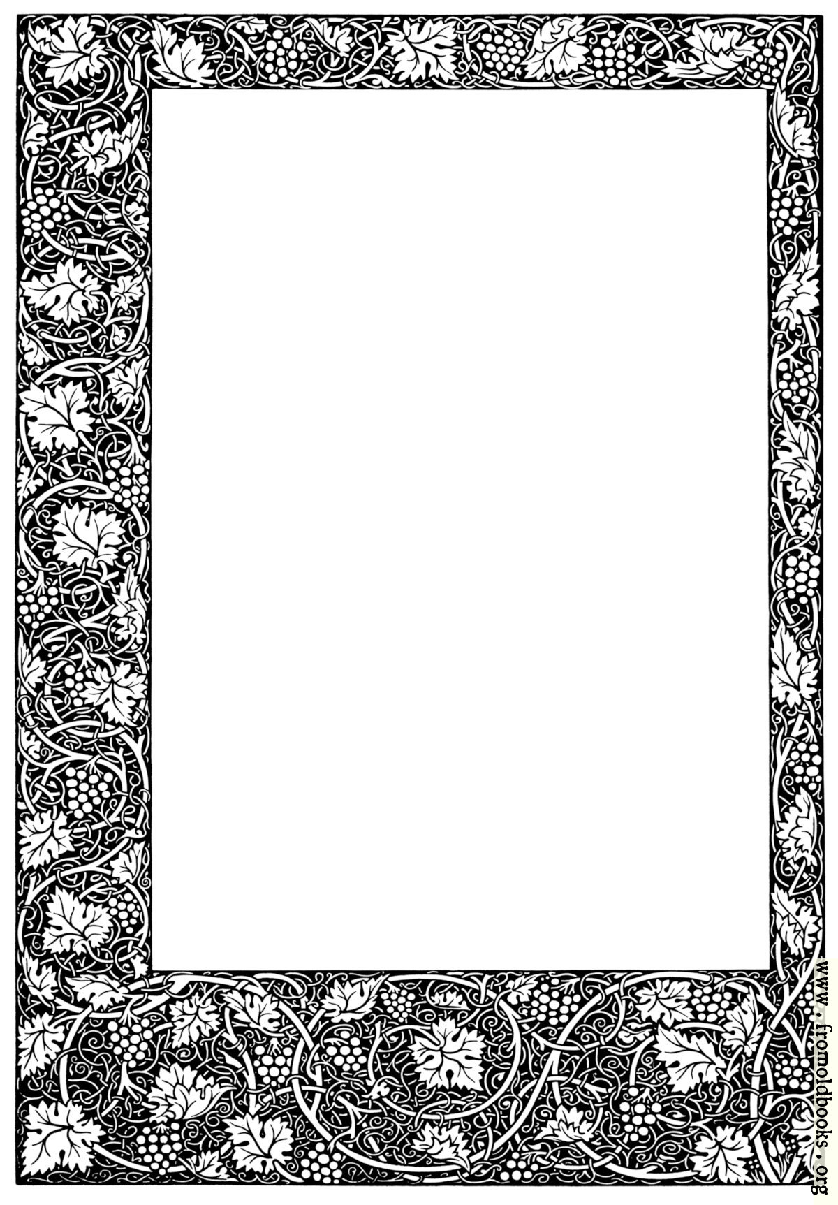 [Picture: Full-page arts and craft movement border]
