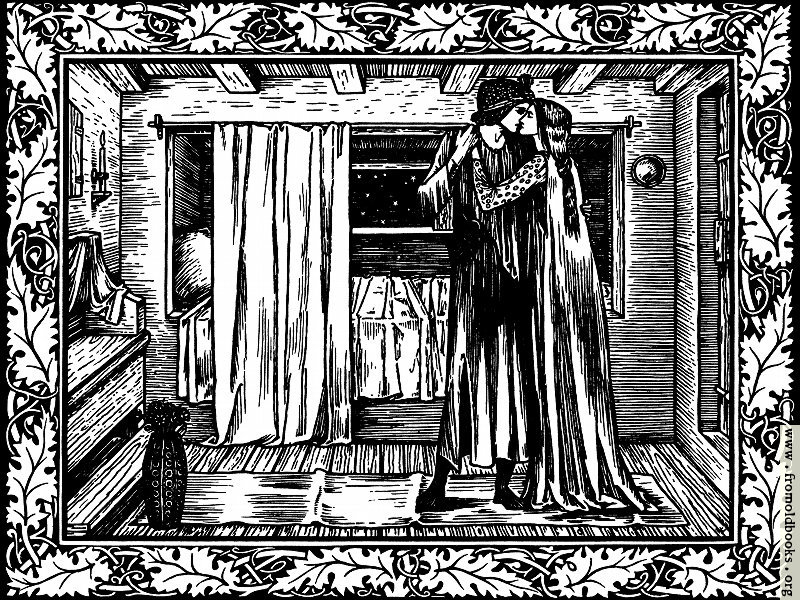 The Kiss The Two Lovers In The Bedroom A Woodcut From Page 501