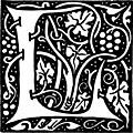 Decorative initial L
