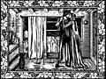 The Kiss: the two lovers in the bedroom, a woodcut from page 501.