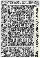 [picture: Title Page, Kelmscott Chaucer]