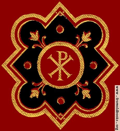 [Picture: Chi-rho symbol (Px) in red, black ad gold from front cover.]
