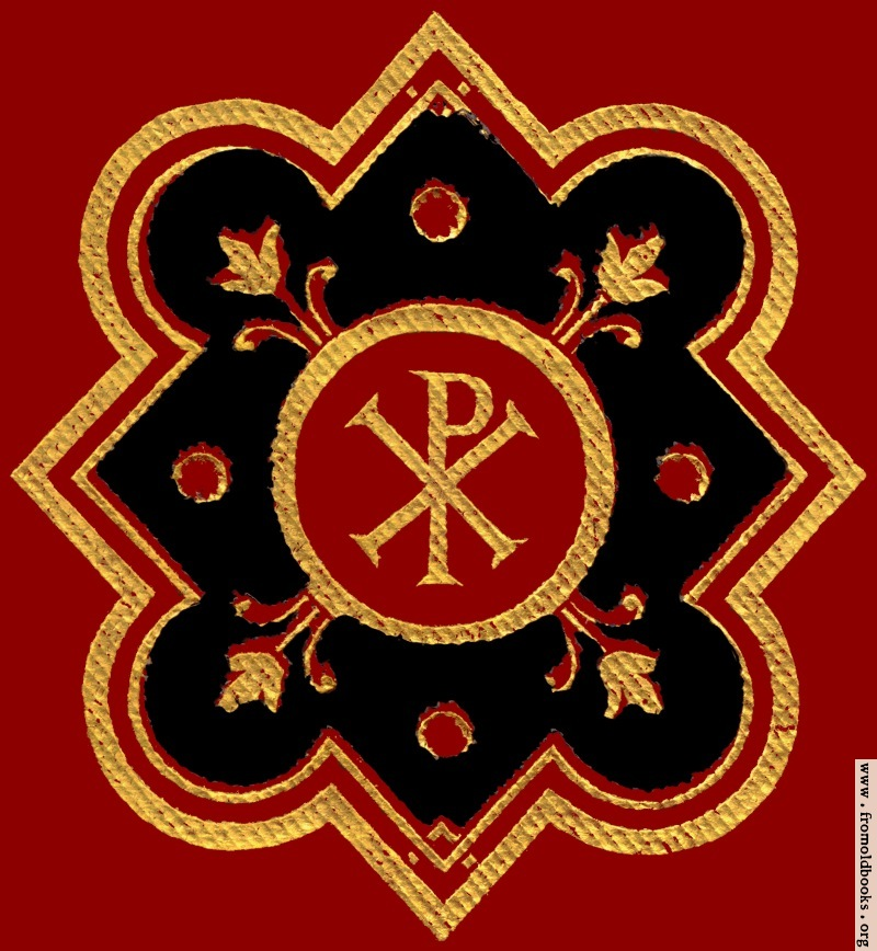Chi Rho Symbol Px In Red Black Ad Gold From Front Cover