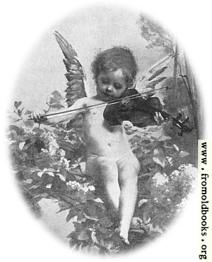[Picture: Music: detail: cherub with violin]