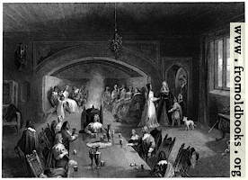 The baron's Hall at Christmas.