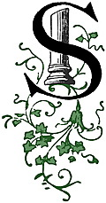 [Picture: Decorative initial letter S with ancient Greek column and green ivy]