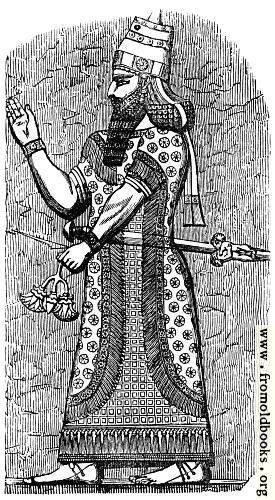 [Picture: An Assyrian King.]