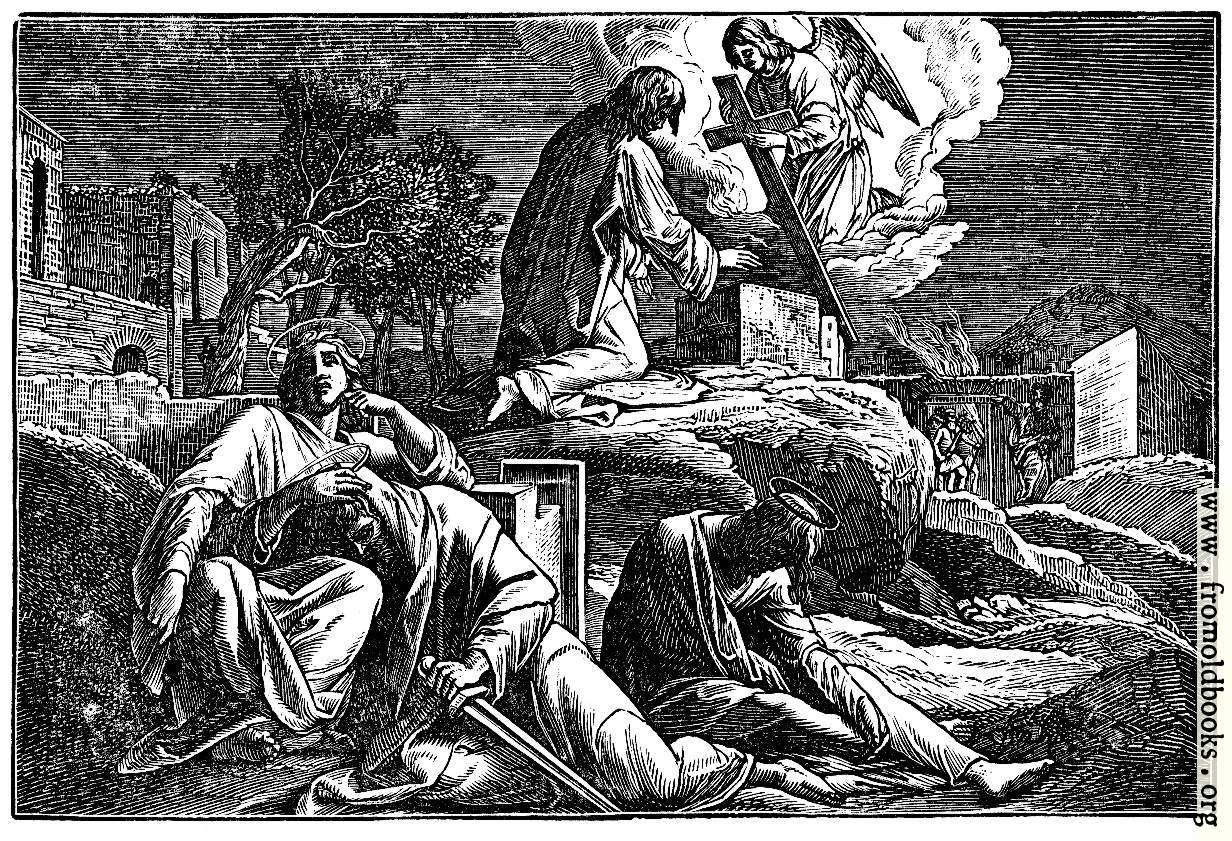 [Picture: Jesus in the Garden of Gethsemane]