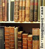 [Picture: Pictures of old books: Two shelves of antiquarian books]