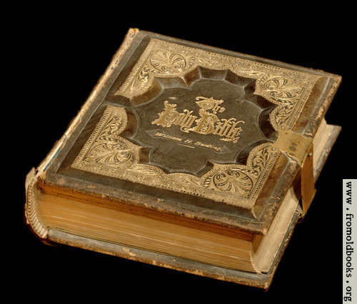 [Picture: Holy Bible, 1875 edition (black background)]