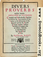 Title Page, Proverbs