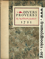 [picture: Front cover, Divers Proverbs]