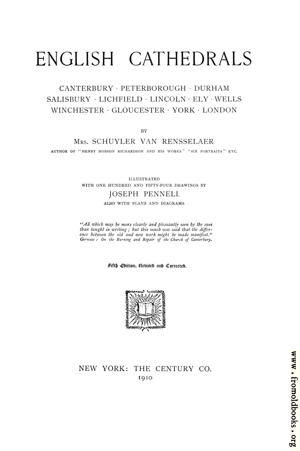 [Picture: Title page, English Cathedrals]