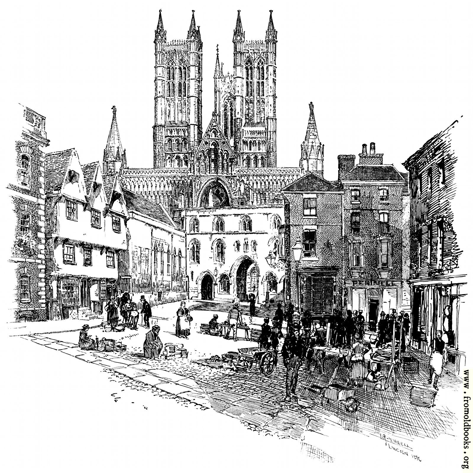 [Picture: The Exchequer Gate and the West Front of the Cathedral.]